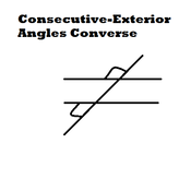 Consecutive Exterior Angles Converse Tutorials Quizzes And Help Sophia Learning