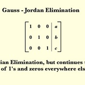 gauss jordan elimination [gauss-jordan elimination] for a given system of linear equations, we can find a solution as follows this procedure is called gauss-jordan elimination  write the augmented matrix of the system of linear equations.