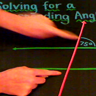 Solving for a Corresponding Angles