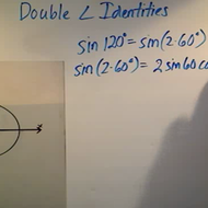 Applying Double Angle Identities