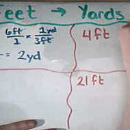 Converting Between Feet and Yards