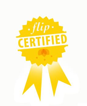 Flip certified badge