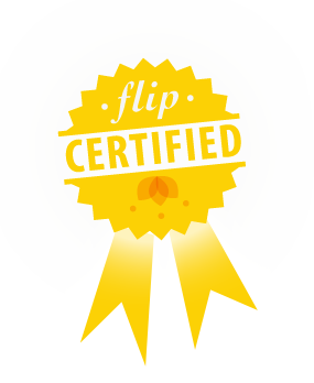 Flip certified badge