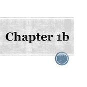 Chapter 1b
