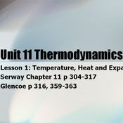 Unit 11 Thermodynamics