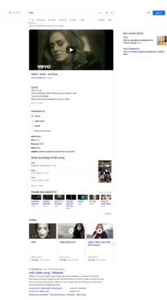 Screenshot of Google search results including images and a clean format.