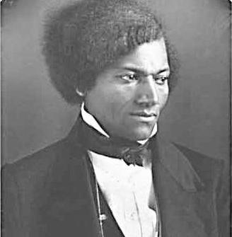 Black-and-white photograph of Frederick Douglass