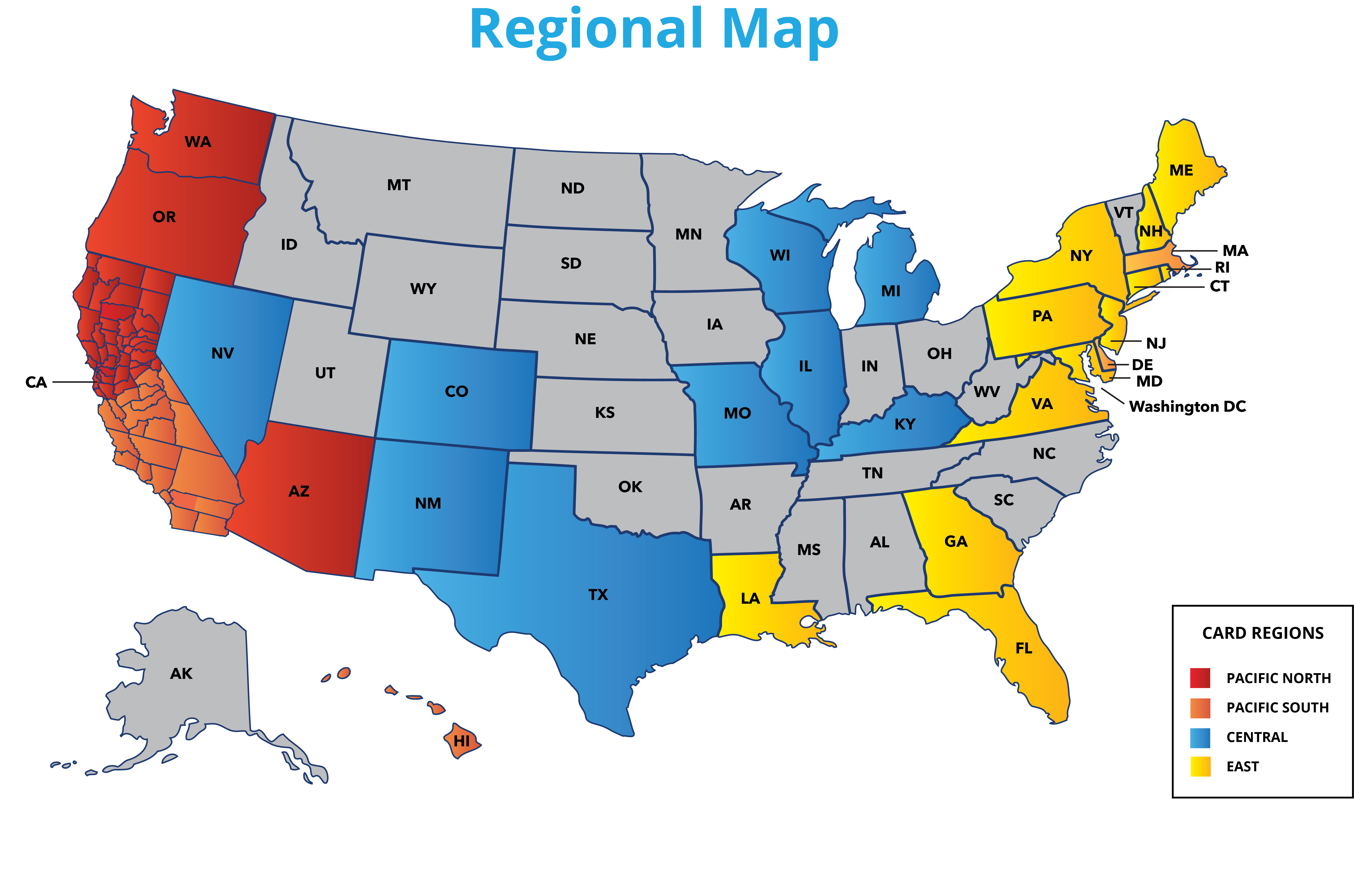 Map of Card Centers