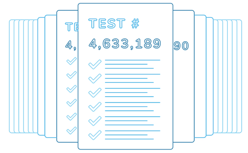 Image of a large list of tests, showing test #4,633,189