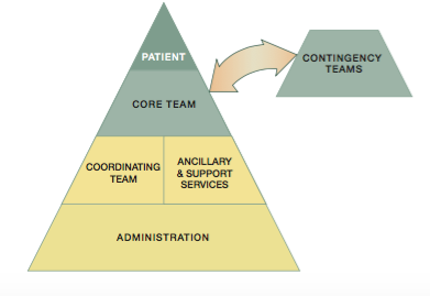 <b>Safe and efficient care involves the coordinated activities of a multi-team system.</b>Source: AHRQ. (2020). TeamSTEPPS Fundamentals Course: Module 2. Team Structure. Retrieved 9 October 2020, from https://www.ahrq.gov/teamstepps/instructor/fundamentals/module2/igteamstruct.html