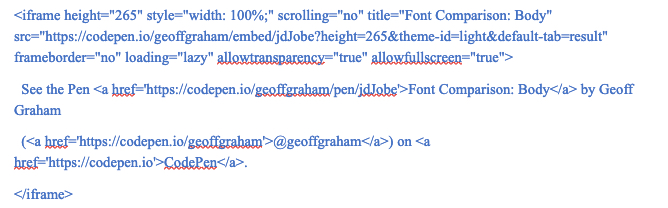 An example of using CSS to change the fonts of paragraphs and headings.