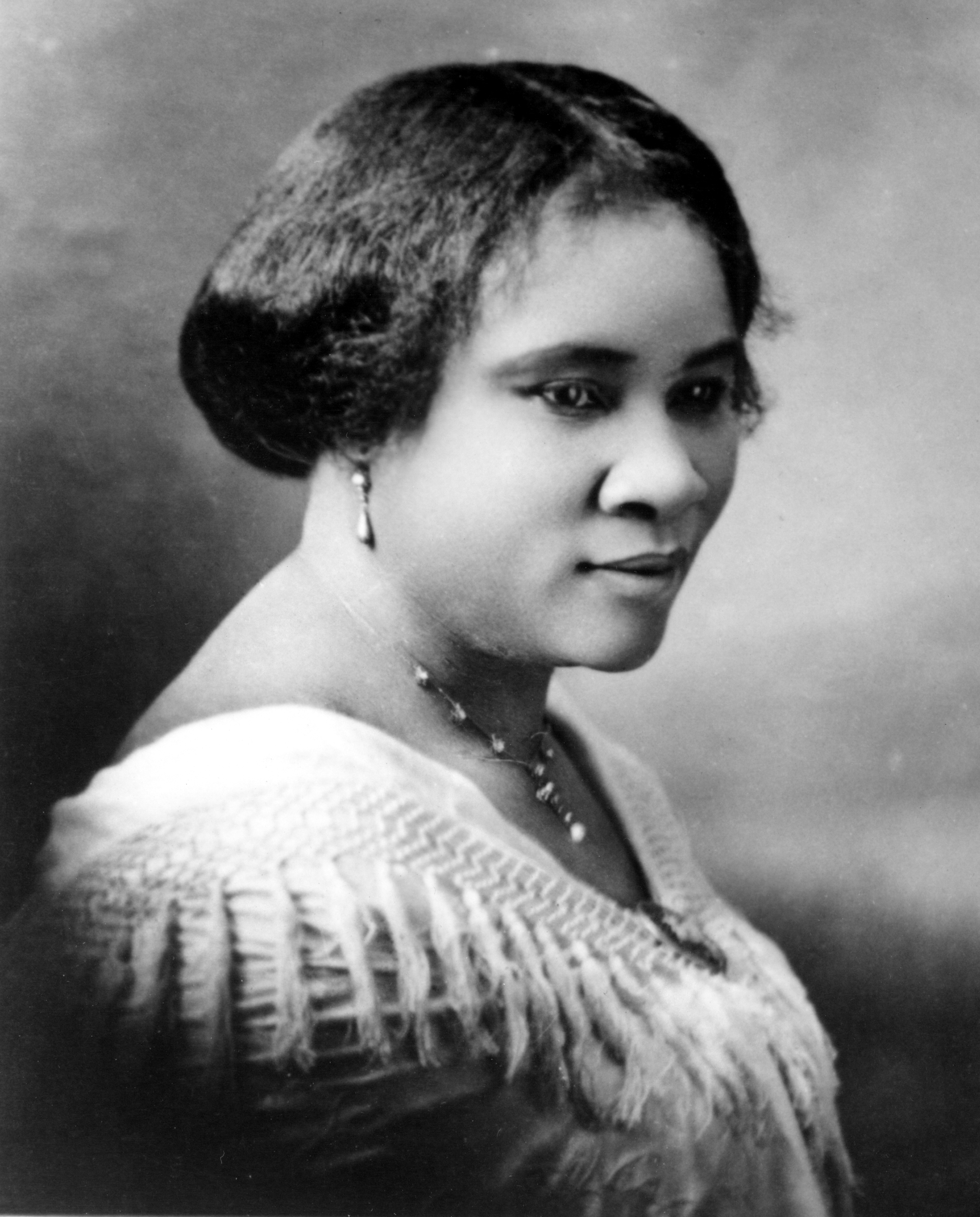 Black-and-white photograph of Madam C.J. Walker