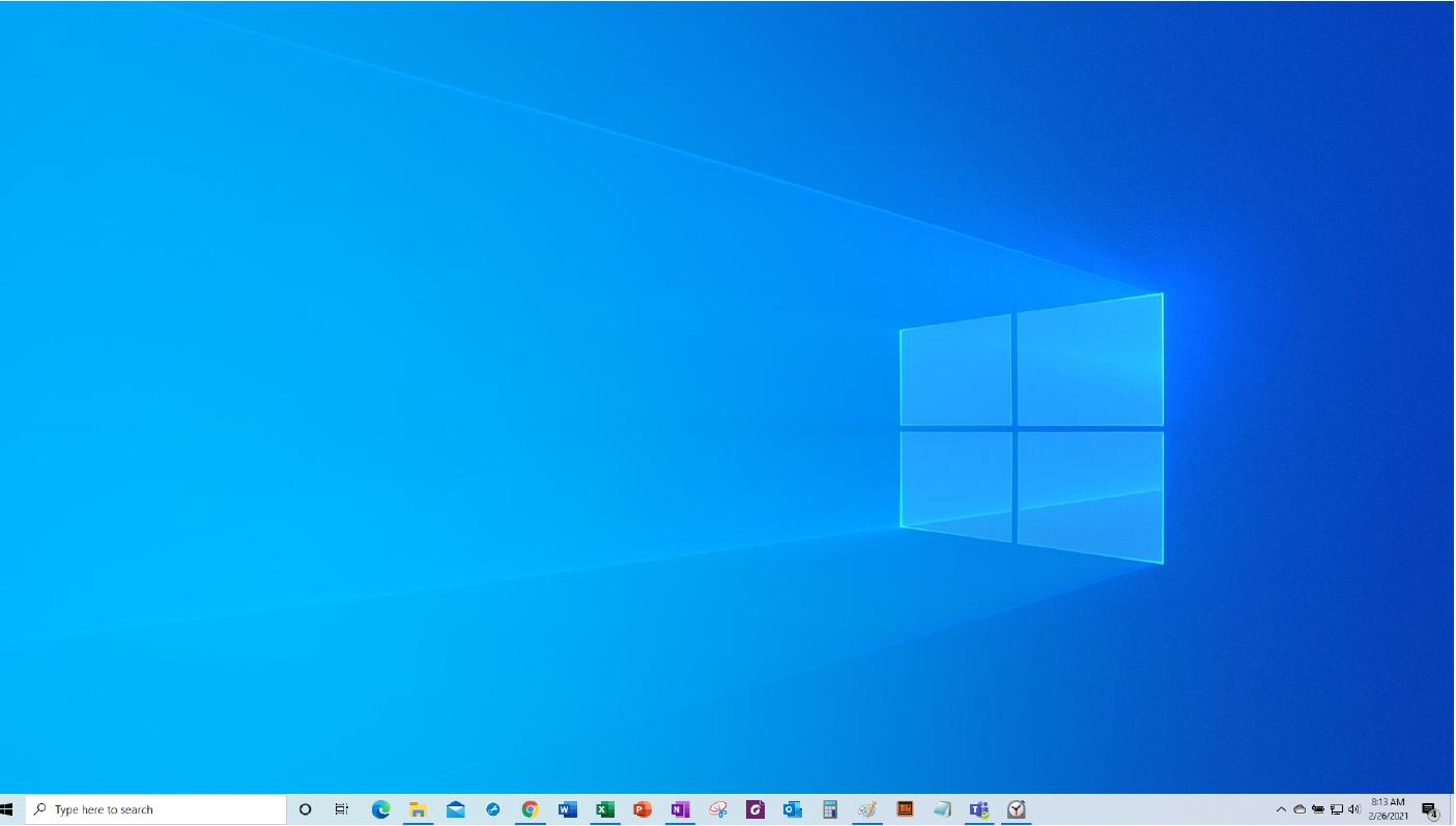 Windows Main Screen