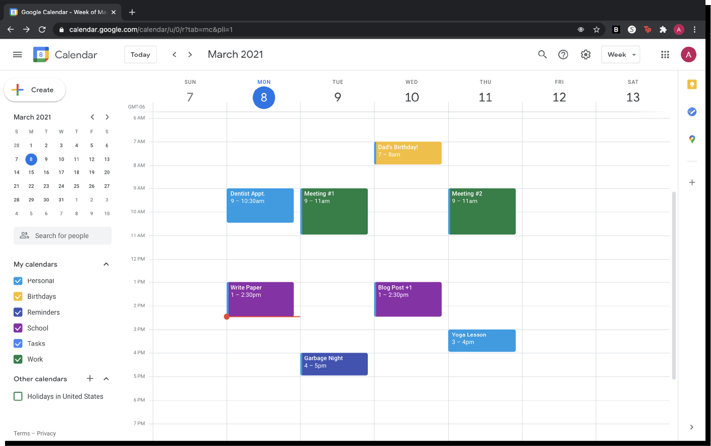 Google Calendar with Appointments