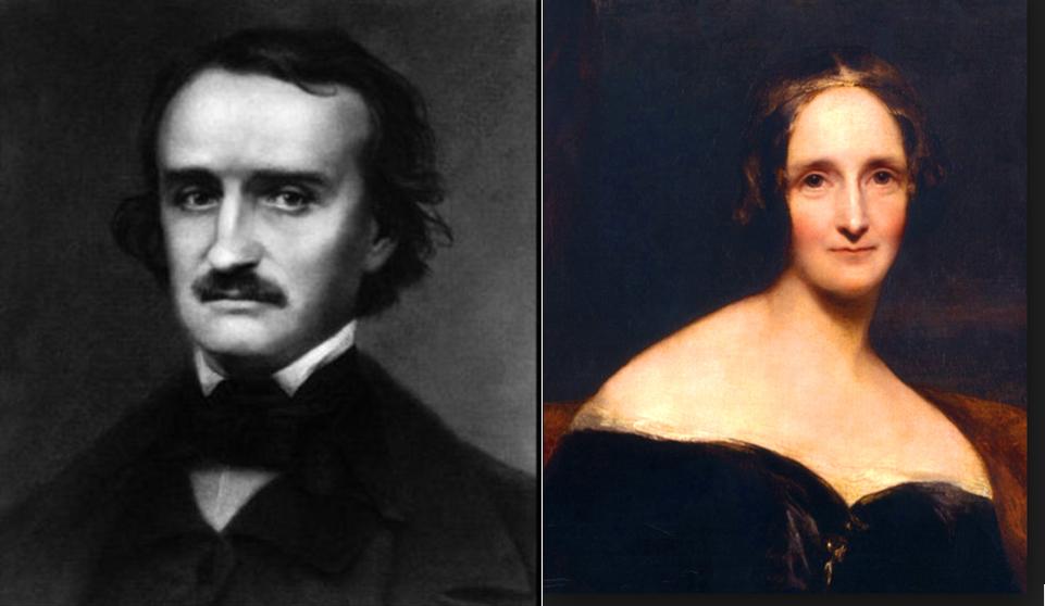 Edgar Allan Poe and Mary Shelley