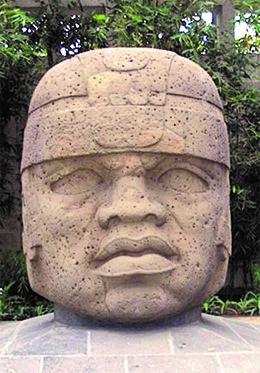 image of Olmec head