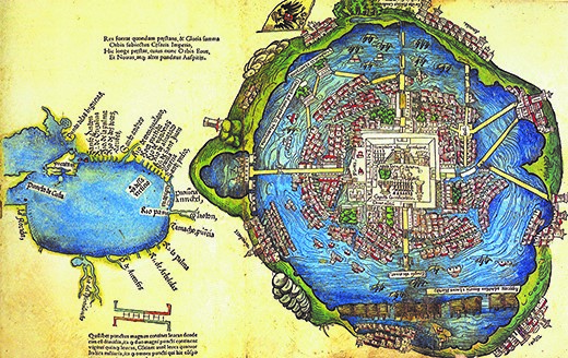 image of aztec map