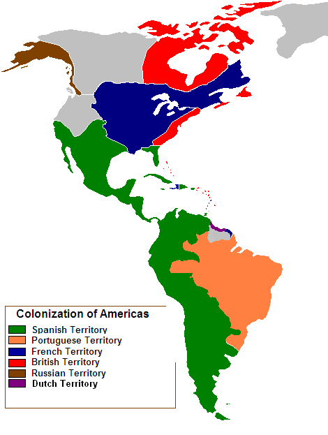 European Colonization of the New World by the mid-18th century