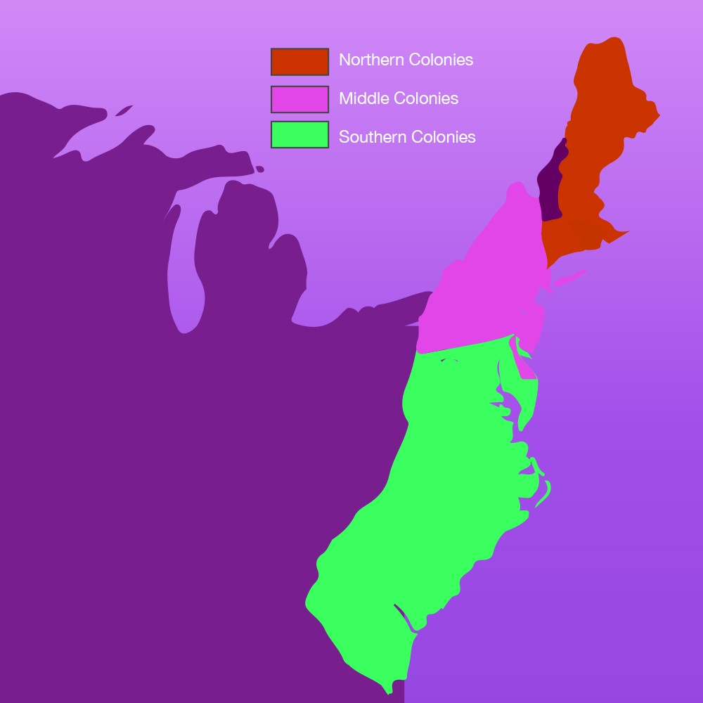 the middle colonies The middle colonies consisted of pennsylvania, new jersey, new york, and delaware located in the middle of the atlantic seaboard, their economies combined the industry of the north with the.