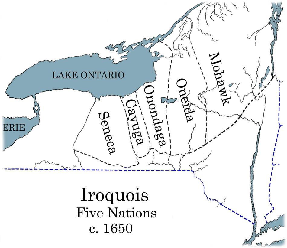 Map of Iroquois