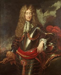 James II (shown here in a painting ca. 1690) worked to centralize the English government under the monarchy. The Catholic King of France Louis XIV provided a template for James II's policies.