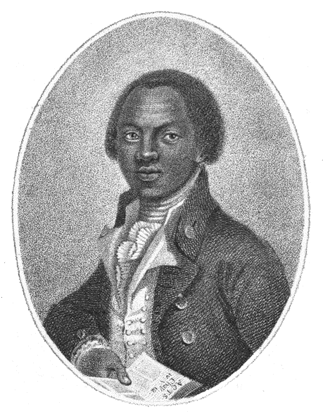Olaudah Equiano, from the frontspiece of his 1789 autobiography The Interesting Narrative of the Life of Olaudah Equiano, or Gustavus Vassa, the African.