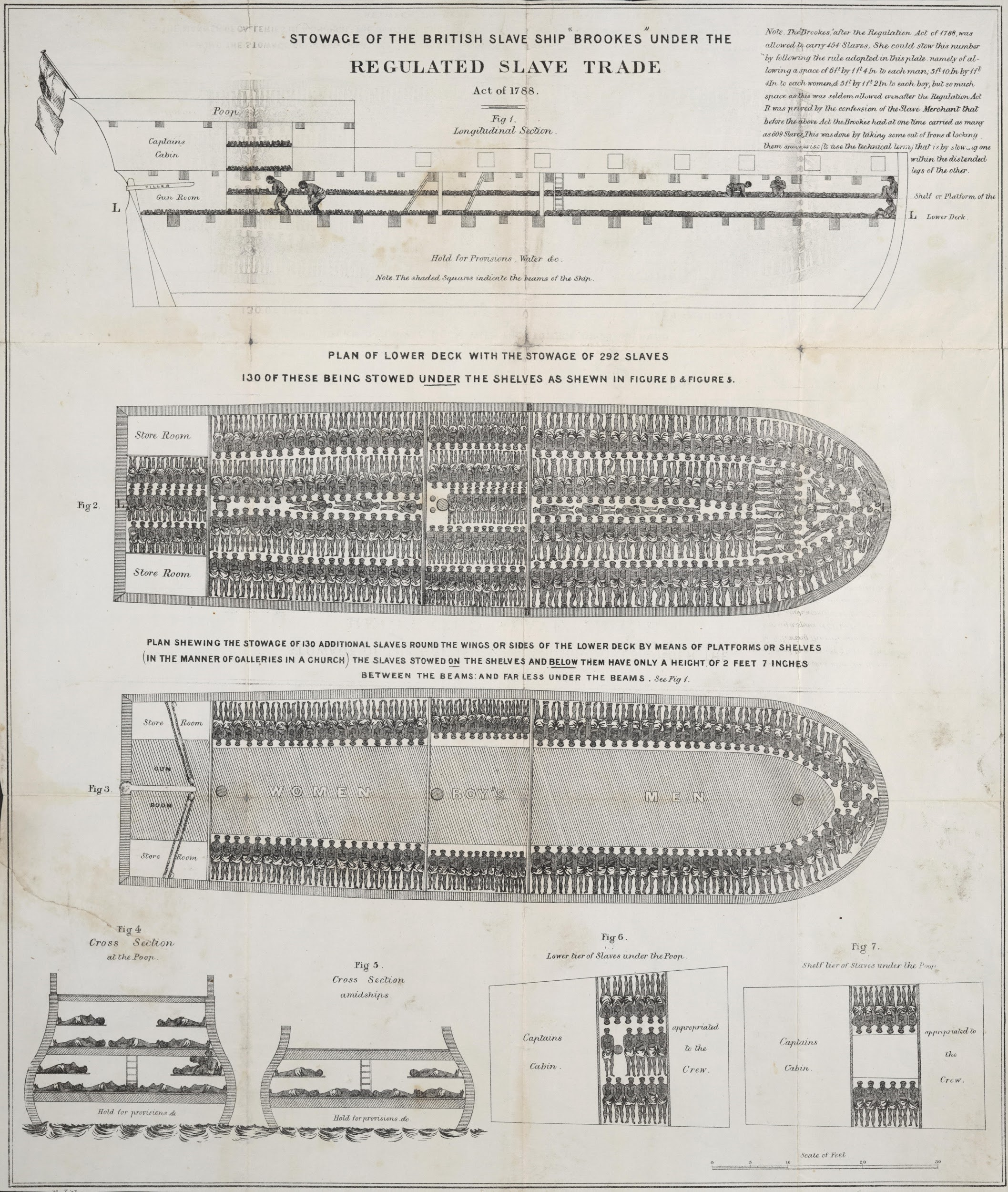 Diagram of a slave ship.