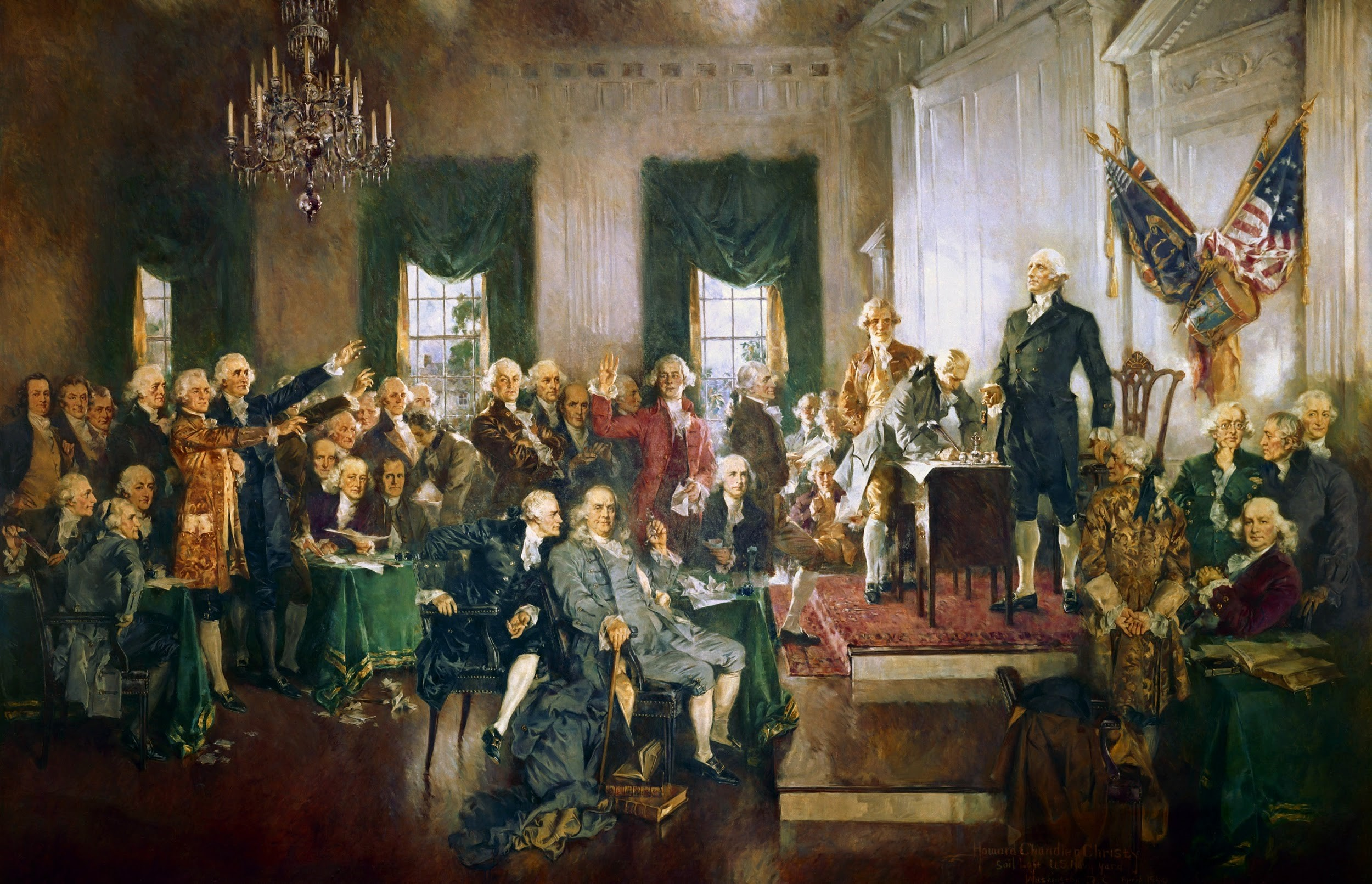 Scene at the Signing of the United States Constitution, by Howard Chandler Christy (1940).