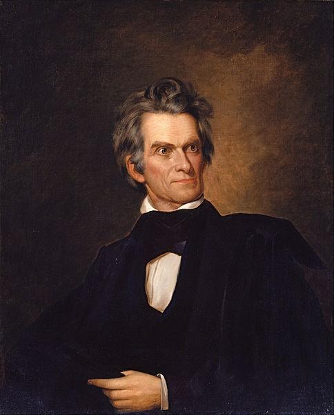 John C. Calhoun, shown here in a ca. 1845 portrait by George Alexander Healy.