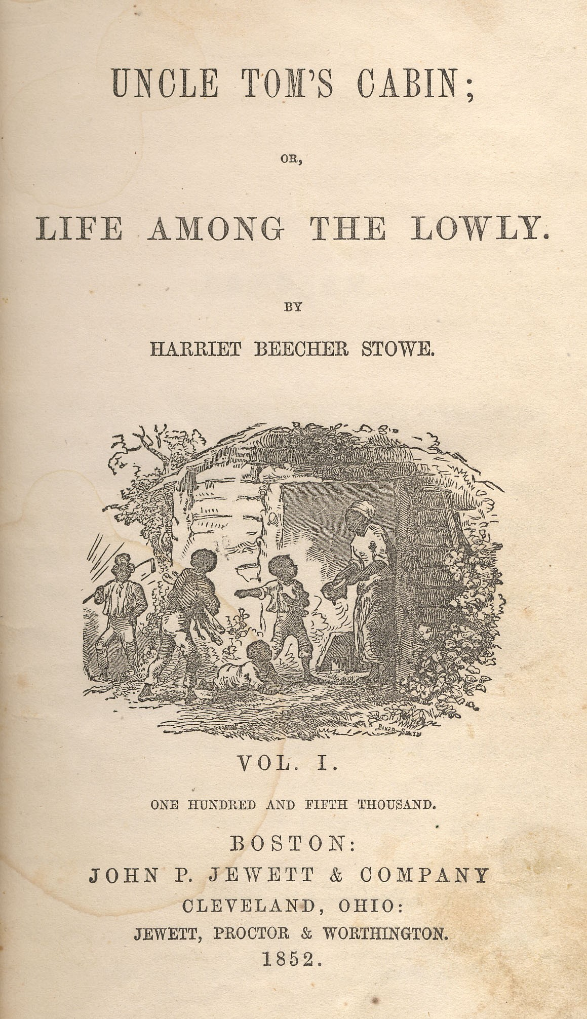 Title page of Uncle Tom's Cabin, 1852.