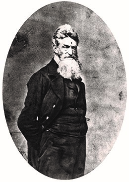 John Brown, in an 1859 photograph. He was a radical abolitionist who advocated the violent overthrow of slavery.