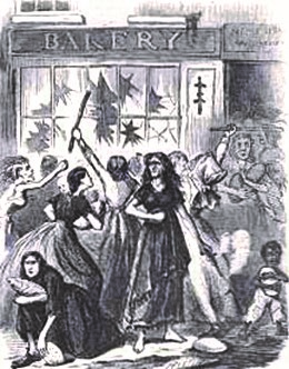 Rampant inflation in the 1860s made food too expensive for many Southerners, leading to widespread starvation and occasional rioting.
