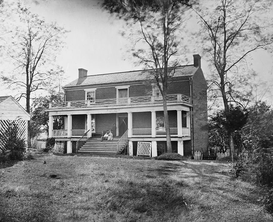 The house of Wilmer McLean, Appomattox Court House, Virginia, where Robert E. Lee surrendered to Ulysses S. Grant on April 9, 1865.