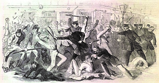 The New York City draft riots revealed that the North was divided over racial equality despite Abraham Lincoln's Emancipation Proclamation.