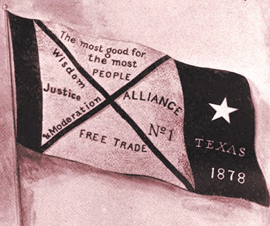 The flag of the Southern Alliance, which was first organized in Texas.