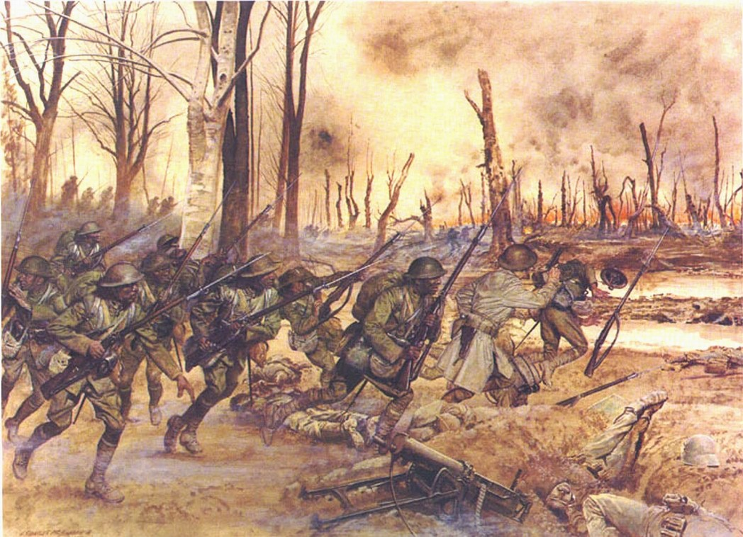 The Harlem Hellfighters in action on the Western Front.