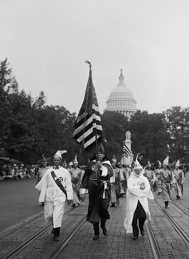 Ku Klux Klan parade in Washington, D.C., September 1926.