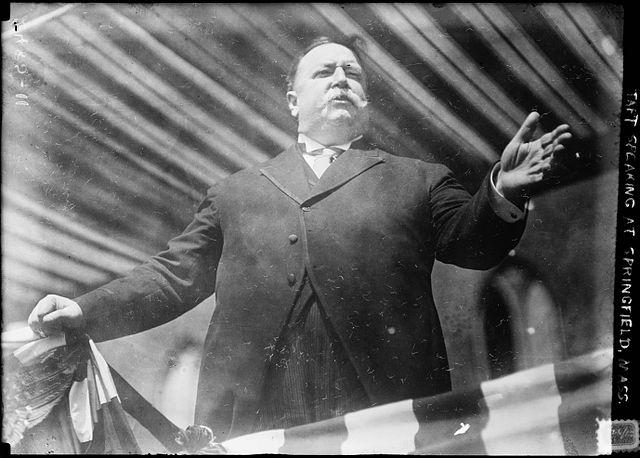 President William Howard Taft introducing the Springfield Municipal Group in Springfield, Massachusetts