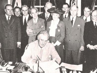 President Franklin D. Roosevelt signed the GI Bill on June 22, 1944. This was just weeks after the Allied invasion of Normandy, and more than a year before World War II ended.