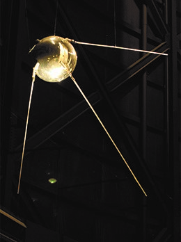 The launch of the Soviet satellite, Sputnik, frightened some Americans, who feared that Soviet technology had surpassed that of the U.S.