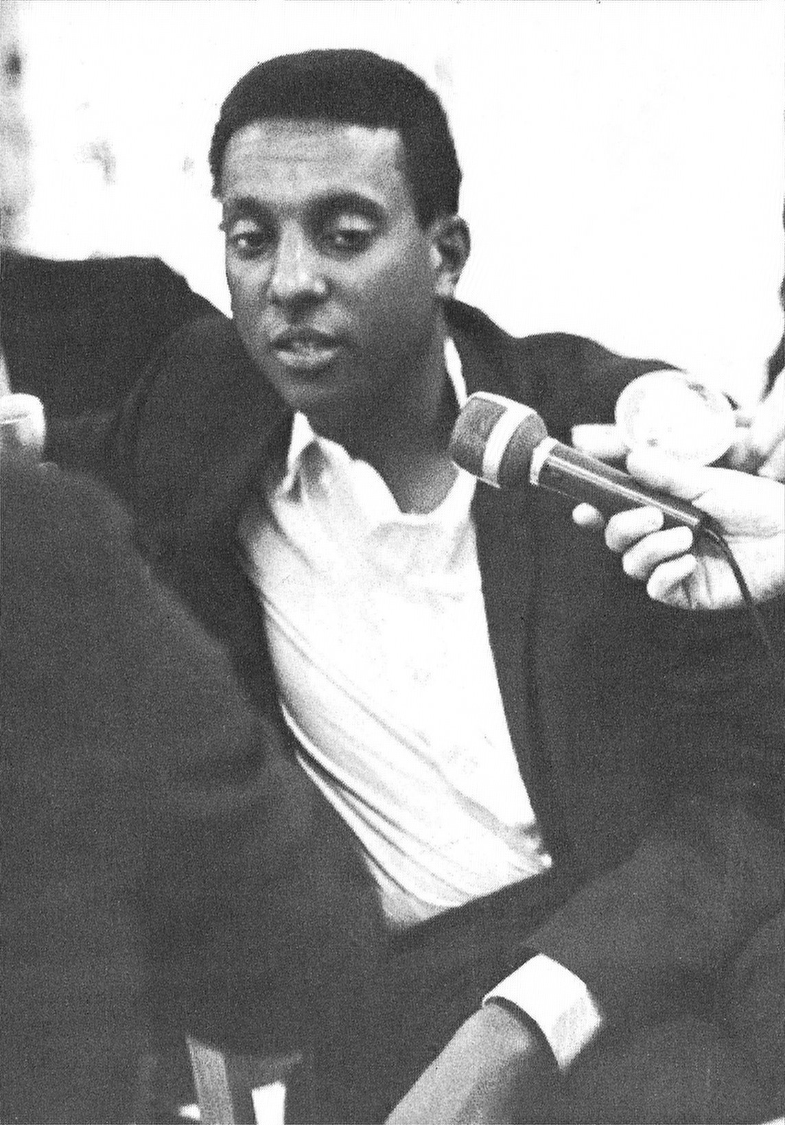 """Stokely Carmichael discusses """"black power"""" at Michigan State University in 1967."""