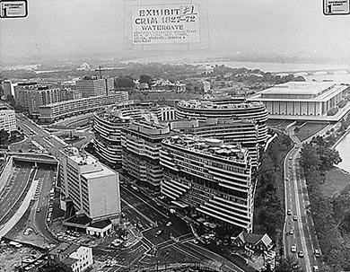 The Watergate hotel and office complex, located on the Potomac River next to the John F. Kennedy Center for the Performing Arts, was the scene of the 1972 burglary and attempted wiretapping that eventually ended the presidency of Richard Nixon.