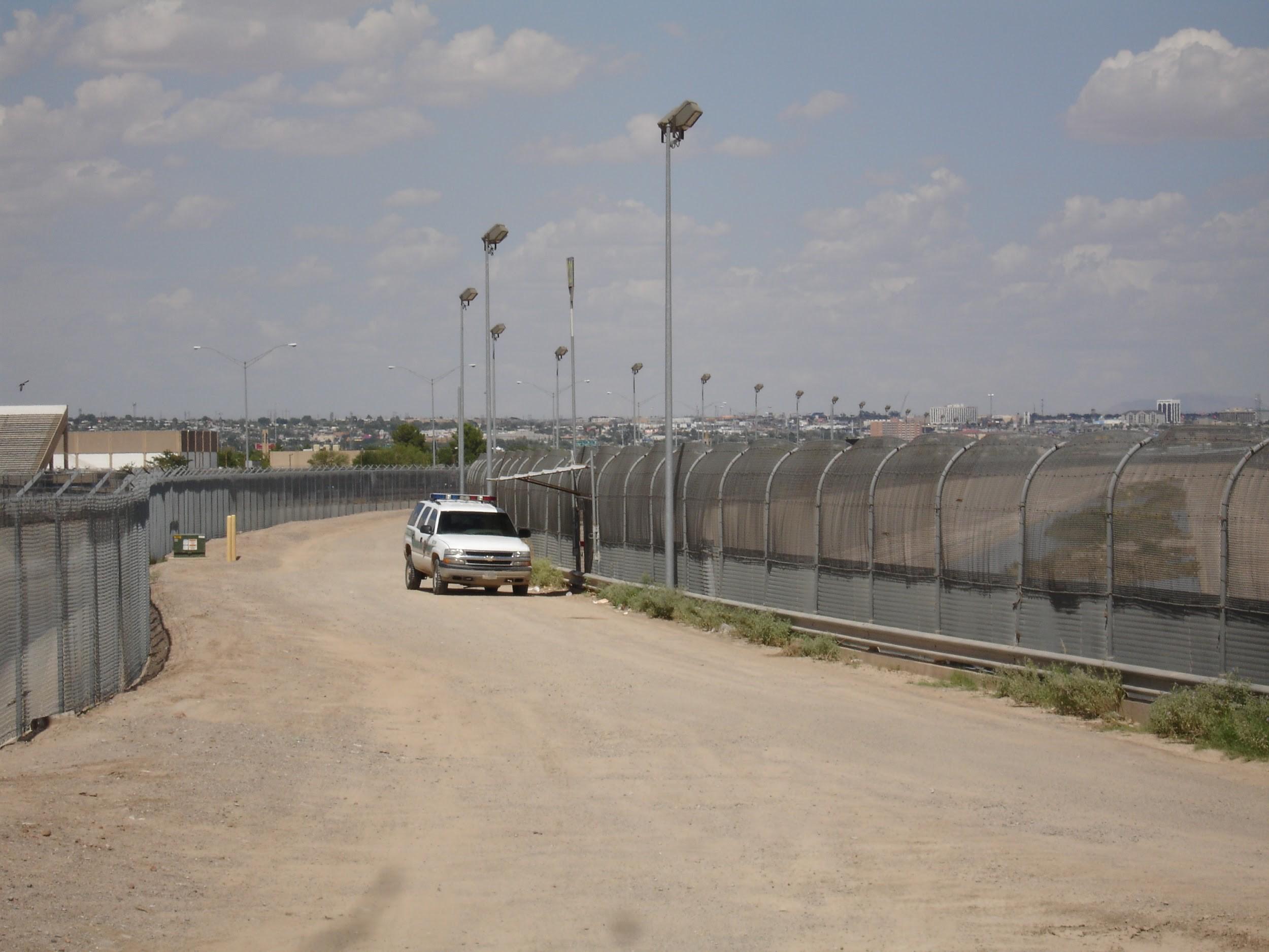 The U.S.-Mexico border fence near El Paso, Texas, in 2007.