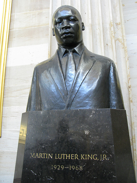 Bust of Martin Luther King, Jr.Martin Luther King, Jr. used his ability to speak to influence and lead a nation to action.