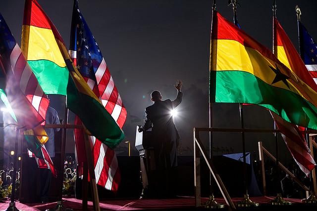 The SpeakerPresident Barack Obama giving a speech in Accra, Ghana on July 11, 2009.