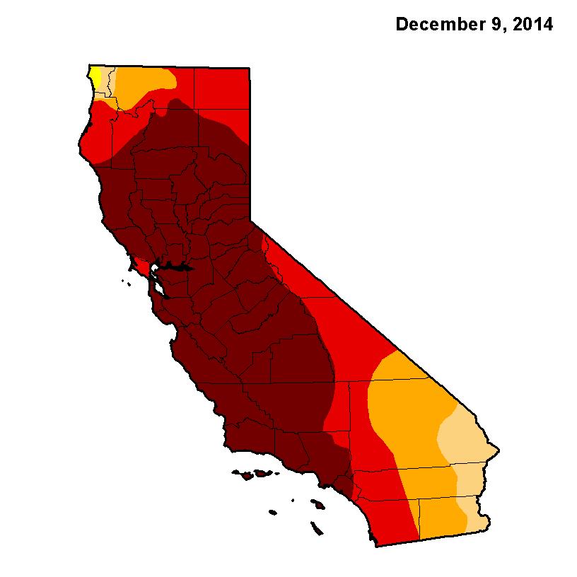 California Drought Map