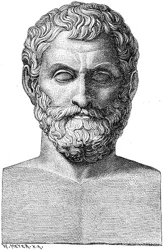 Thales, illustrated here, was a pre-socratic philosopher. In addition to philosophy, Thales also had a strong interest in mathematics and astronomy.