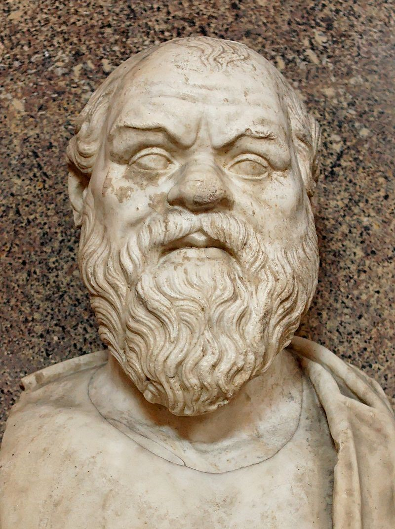 Bust of Socrates in the Vatican Museum. Socrates is known as the