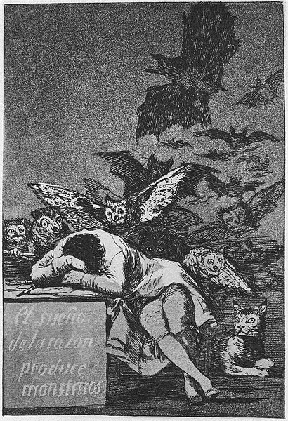 The Sleep of Reason Produces Nightmares by Francisco de Goya1799Etching and aquatint