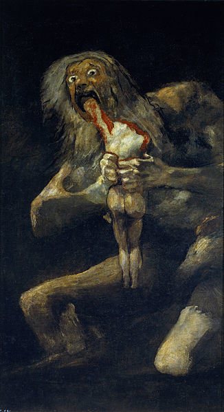 Saturn Devouring One of His Children by Francisco de Goya1819-1823Oil on canvas